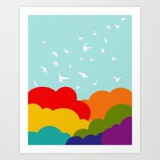 Up, Up, and Away! Art Print