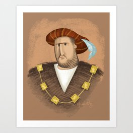 Henry & His Wives Art Print
