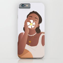 The girl with a flower Poster iPhone Case