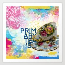teacup03 | multimedia collage Art Print