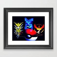 Teams Valor Mystic and Instinct Framed Art Print