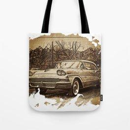 Ford Fairlane Vintage Automobile Tote Bag