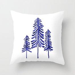 Pine Trees – Navy Throw Pillow