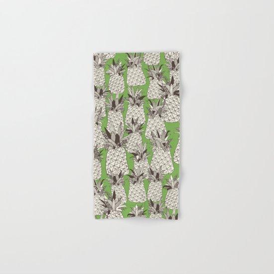 pineapple palm green Hand & Bath Towel