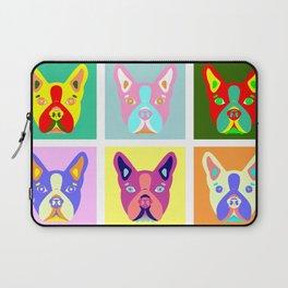 Boston Terrier Pop Art Laptop Sleeve