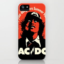 Ac/Dc angus young iPhone Case