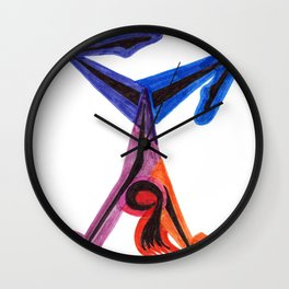 Gymnast Magic Wall Clock
