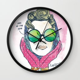 Hipster lady Wall Clock