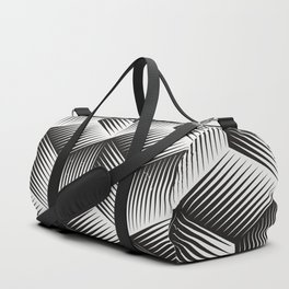 Black And White cuber Duffle Bag