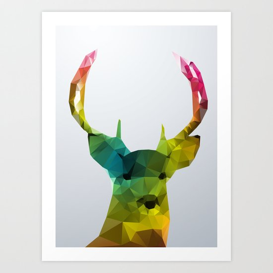 Glass Animal - Deer head Art Print