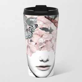 WOMAN WITH FLOWERS 10 Metal Travel Mug