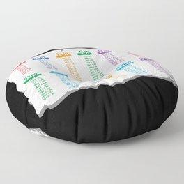 Multiplication Table School Floor Pillow
