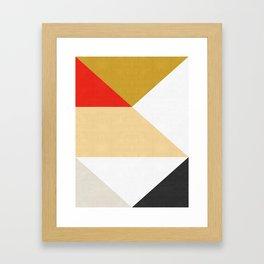 Modern triangular composition III Framed Art Print