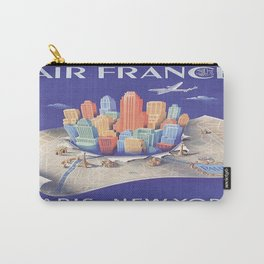 Vintage poster - Paris and New York City Carry-All Pouch