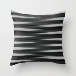 Black and White High Contrast Pattern Throw Pillow