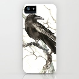 Raven on the Tree iPhone Case