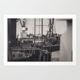 Hafen Wismar Art Print