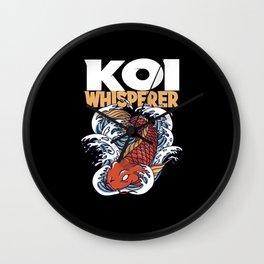 Koi Whisperer I Koi Carp I Fish Gift Motif Wall Clock