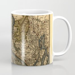 Map Of Holland 1570 Coffee Mug