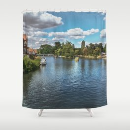 From Windsor Town Bridge Shower Curtain