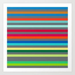 Colorful Stripes Art Print