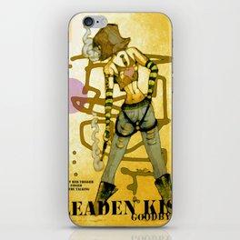 a leaden kiss goodbye iPhone Skin