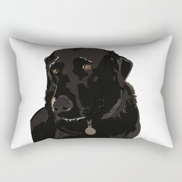 Labrador dog face (black) Rectangular Pillow