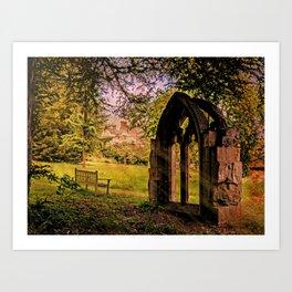 Manor house landscape. Art Print