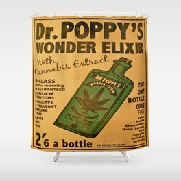Vintage poster - Dr. Poppy's Wonder Elixir Shower Curtain