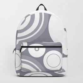 Circle Circus - 1960s Geometric Abstract Grey Backpack