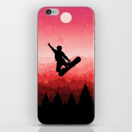 Snowboard Skyline I iPhone Skin
