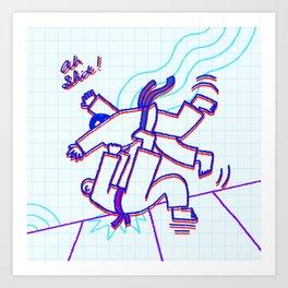 Judo Throw! Art Print