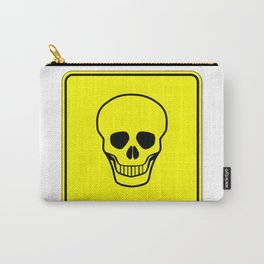 Skull Warning Sign Carry-All Pouch