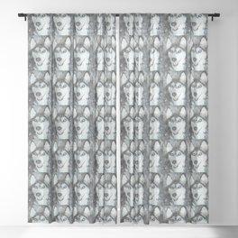 Tika'ani our Siberian Husky Sheer Curtain