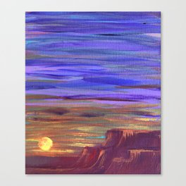 Magical Southwest Night Sky Canvas Print