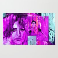 messi Area & Throw Rugs featuring BARCELONA Olé ! by ARTito