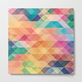 Colorful polygons Metal Print