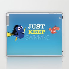 just keep swimming with nemo and dory Laptop & iPad Skin
