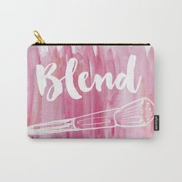 Pink Vanity Decor, Makeup Brush Illustration, Watercolour Carry-All Pouch