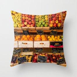 Groceries, Nice France Throw Pillow