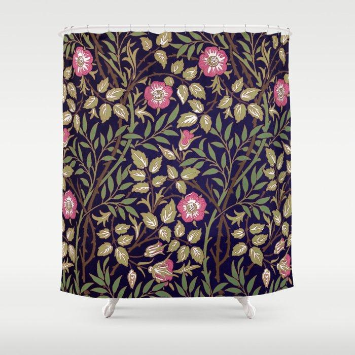 William Morris Sweet Briar Floral Art Nouveau Shower Curtain