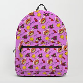 Hammy Pattern in Pink Backpack