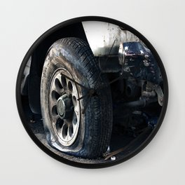 Flat Tire! Wall Clock