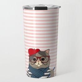 French Cat Travel Mug