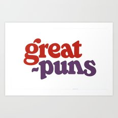 Great Puns Art Print