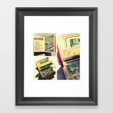 Sunshine on page spines Framed Art Print