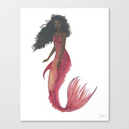 Red Mermaid Canvas Print