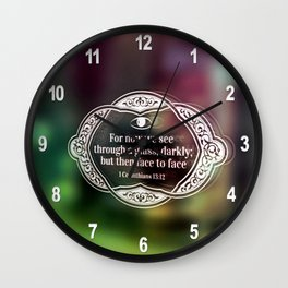 Through a glass, darkly . . . Wall Clock