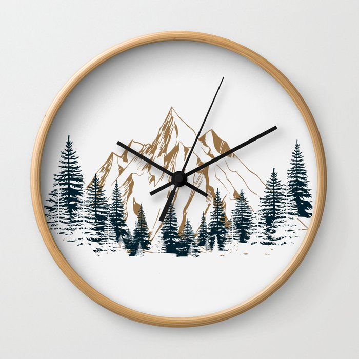 mountain # 4 Wall Clock