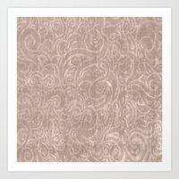 Billowing - Dirty Rose Art Print